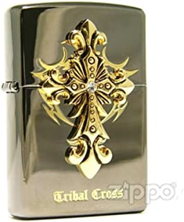 Zippo Tribal Cross Black Ice Lighter Made in USA /GENUINE and ORIGINAL PackingZippo Tribal Cross Black Ice Lighter Made in USA /GENUINE and ORIGINAL Packing