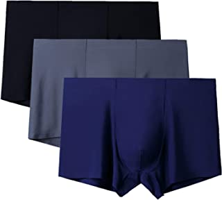 AlingDa Mens Boxer Briefs Colors Assorted Modal Underwear 4 Pack and Ice Silk Underwear 3 Pack L-3XL