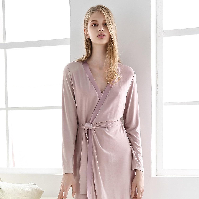 GJM Shop Nightgown Thin Section Cotton Female Summer Season Short Section Pajamas Bathrobes Home Clothes S M L XL (color   2, Size   S)
