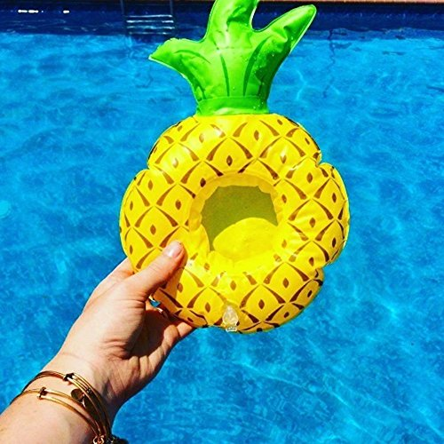 JYSPORT Inflatable Unicorn Pool Floats Pegasus buoy - Outdoor Swimming Pool Lounger Floatie Lounge (Pineapple Cup holder)