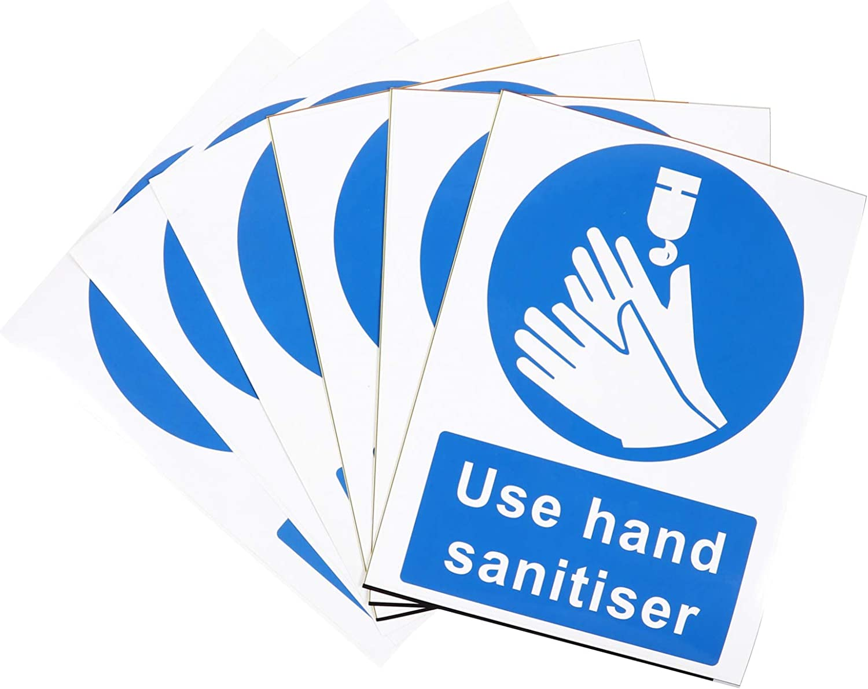 Baluue 6pcs Choice Use Hand Free Shipping Cheap Bargain Gift Sanitizer Sign Sticker Washing Poster