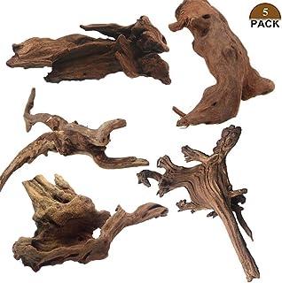 Tfwadmx 5PCS Aquarium Driftwood Branches Reptiles Trunk Driftwood Natural Wood Fish Tank Decoration Plant Stump Ornament Decor Assorted