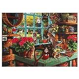 CHIGUANG Puzzle 1000 Pezzi, Puzzle Impossibili, Gioco di Abilità per Tutta la Famiglia, Puzzle Colorato, Puzzle per Adulti dai 14 anni Gatto sul Davanzale della Finestra