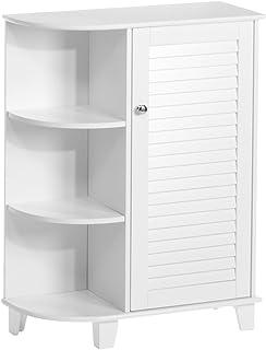 RiverRidge Floor Cabinet with Side Shelves, White