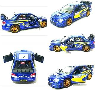 Subaru Impreza WRC 2007 modelo de coche Rally Sports 1:36 Scale Diecast Metal de Kinsmart Puertas de apertura altamente detalladas Pull Back Go Action Model Model Car