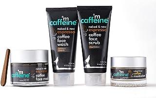 mCaffeine Espresso Coffee Skin Care Routine for Deep Exfoliation & Oil Free Hydration   Face Wash, Face Scrub, Face Mask, ...