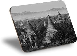 Destination Vinyl ltd Mantel individual de corcho 290 x 215 – BW – Bagan Myanmar Reino Pagan Workplace/Mantel de mesa, lav...