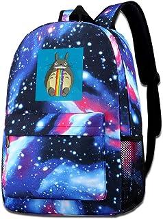 Galaxy Printed Shoulders Bag Studio Ghibli Totoro Puking Rainbow Snapchat Filter Fashion Casual Star Sky Backpack For Boys...