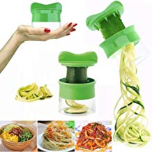 Cortador de Verduras Frutas en Espiral, Pelador y Rallador de Verduras, Utensilios de Cocina en forma de Espirales para Platos Sanos y Creativos, Herramienta de la Cocina Profesional Color Verde LMMVP
