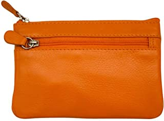 ili New York 6413 Leather Coin Purse with Key Ring Inside