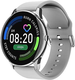 ساعة ذكية S8 شاشة كاملة تعمل باللمس - رسائل ومكالمات - متوافق مع نظامي Android و IOS لون فضي