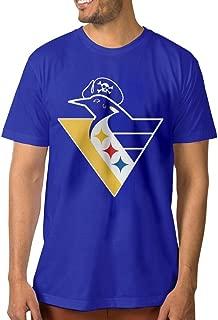 PTCYM Penguin Ice Hockey King Design Men's T Shirts DeepHeather