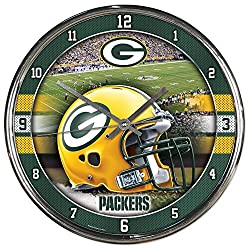 WinCraft NFL Green Bay Packers Chrome Clock