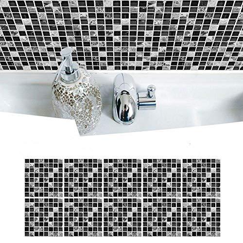 MOMOTOU 10 pegatinas autoadhesivas para azulejos de pared para cocina, baño, impermeable, resistente al aceite, 15 x 15 cm