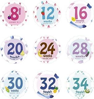 shangjunol 14 Hojas//Sistema del Mes del beb/é reci/én Nacido Milestone Etiqueta Mujeres Embarazadas Vientre fotograf/ía mensual Pegatinas Semanas apoyos de la Foto Picture