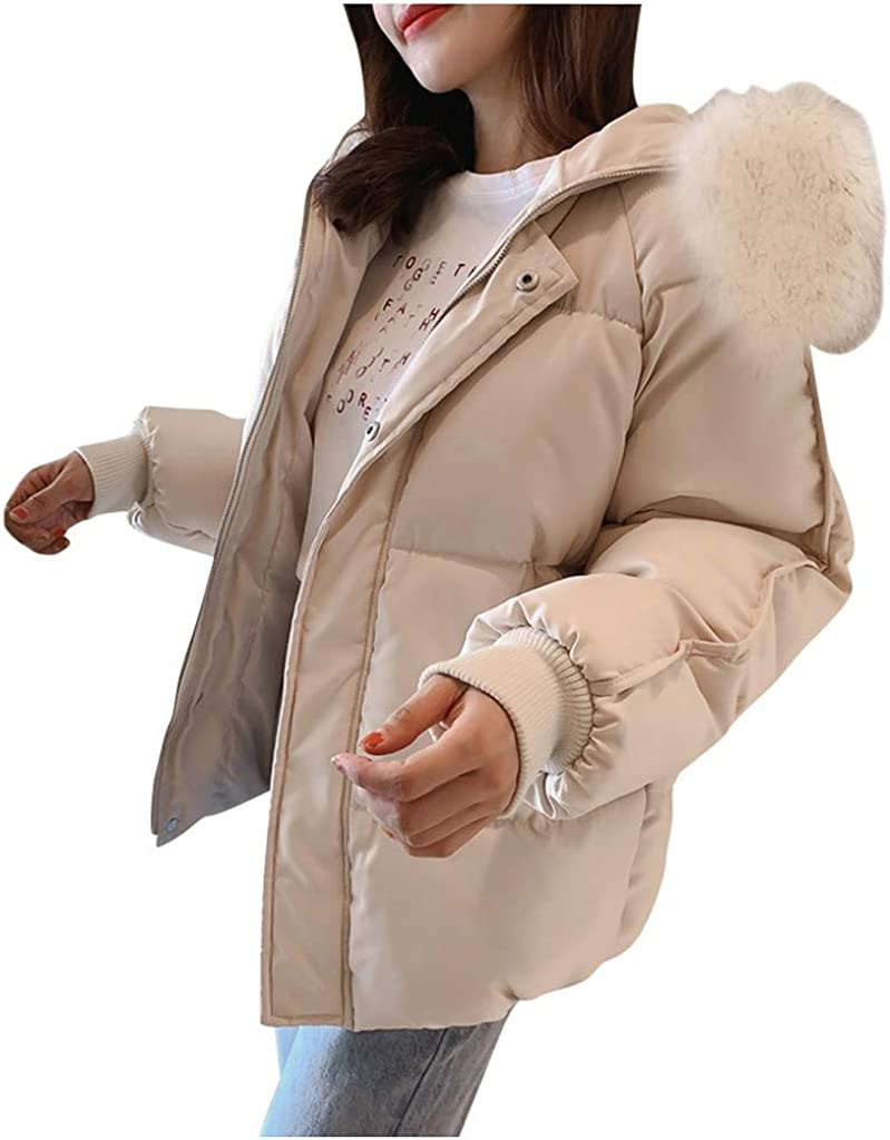 Simayixxch Women Loose Hooded Coat Sleeve Fur Collar Long Winter Super Large special price !! popular specialty store