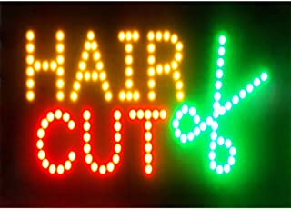 CHENXI Led Beauty Hair Salon Nails Shop Open Sign hot Sale 48 X 25 cm Indoor Ultra Bright Running Care of led (48 X 25 cm, B)