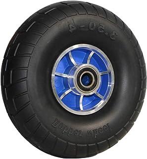 YJJT Vervangende handvrachtwagenwiel, Massieve rubberen banden, Maximale belasting per ronde 500 pond, Platte vrije massie...