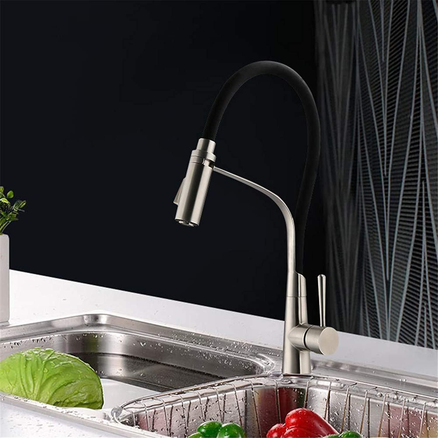 Decorry Kitchen Vegetables Dish Bathroom Faucet Stainless Steel Faucet