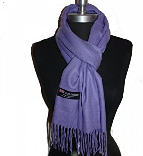 9Proud Purple Scarves Solid Scotland Wool Warm Thick Winter Scarf