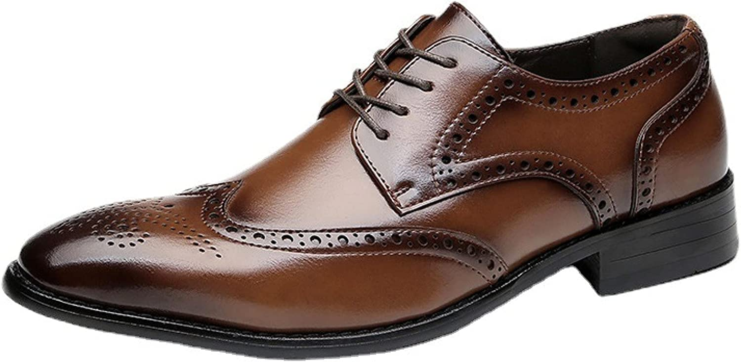 Men's Oxford Dress Casual Max 70% OFF Shoe Formal Jacksonville Mall Classic Toe Leathe Oxfords