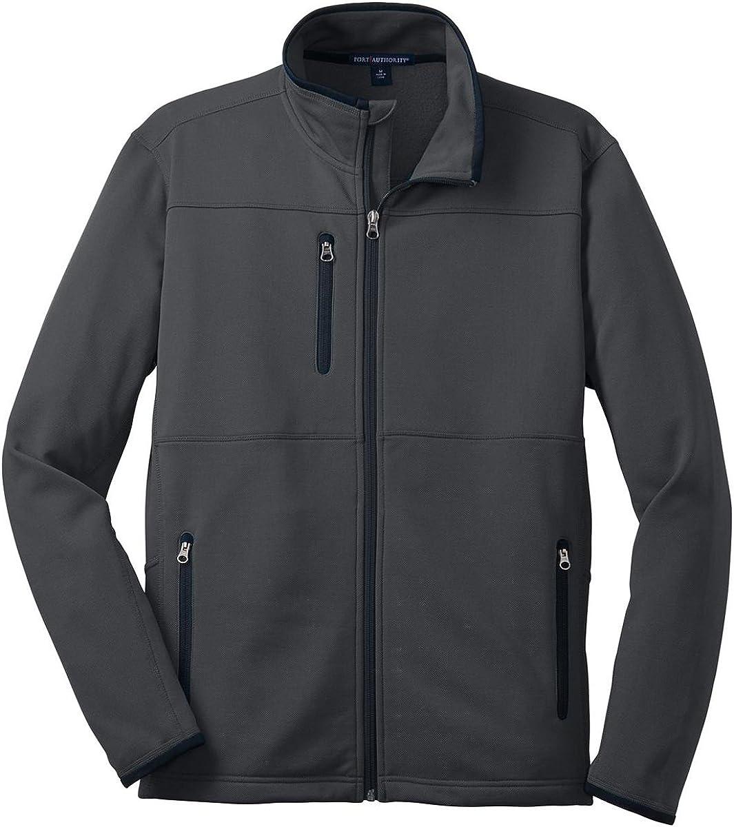 Port Authority F222 Pique Fleece Jacket - Graphite - 4XL