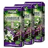 Graberde Plantop 3 Säcke á 20L = 60 Liter Blumenerde Spezialerde ohne Rußzusatz