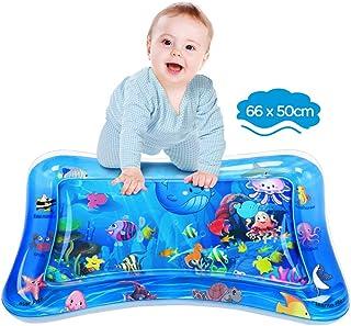 Dusor Wassermatte Baby, Wasserspielmatte BPA-frei, Baby Spielzeug 3 6 9 Monate, Aufblasbare Bauchzeit Matte, Spaßaktivitäten Das Stimulationswachstum Ihres Babys, Kinder Spielzeug Ozean 66 x 50 cm