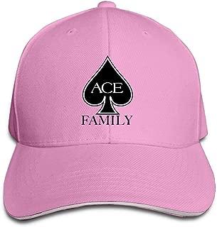 Unisex Summer Fashion Cool ACE Family Logo Baseball Cap Ash