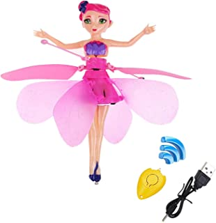 MinaLu Flying Fairy Doll for Girls 6 Years Old,Infrared Induction Teen Toys Flying Princess Doll