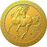 Power Coin Unicorn Mythical Creatures Moneda Oro 5$ Niue 2021