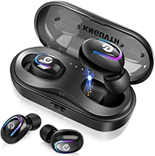 Wireless Earbuds, KNGUVTH Bluetooth Headphones 5.0 True Wireless Stereo Headset Built-in Mic Invisible in Ear Sport Sweatproof Earphones with Charging Case Compatible with iPhone Samsung Android
