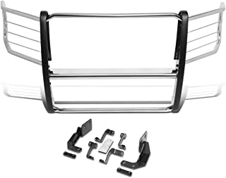 DNA Motoring GRILL-G-082-SS Stainless Steel 1.5 Inches OD Bars Front Bumper Brush Grille Guard
