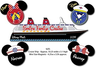 NAUTICAL Disney Ship Boat Magnet (optional add-on MINI SIZE mouse heads) for Disney Cruise