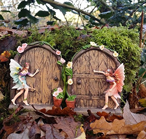 Set of 2 sparkle fairy door gard...