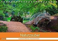 Naturzauber (Tischkalender 2022 DIN A5 quer): Monat, fuer Monat zauberhafte Plaetze in der Natur. (Monatskalender, 14 Seiten )