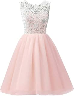 b62abc51900ba Star Flower Big Girls Lace Short Tulle Dresses Kids Prom Party Bridesmaid  Wedding Guest Size 7
