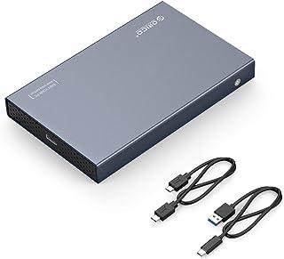 【USB3.1 Gen2】ORICO 2.5インチ USB-C HDD ケース USB3.1 Gen2 アルミ製 ハードディスクケース 6Gbps高速転送 4TBまで HDD/SSD対応 C-Cケーブル付属 ダークグレー
