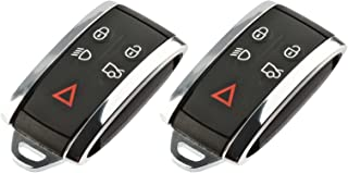 Key Fob Keyless Entry Smart Remote Shell Case & Pad fits Jaguar, Set of 2