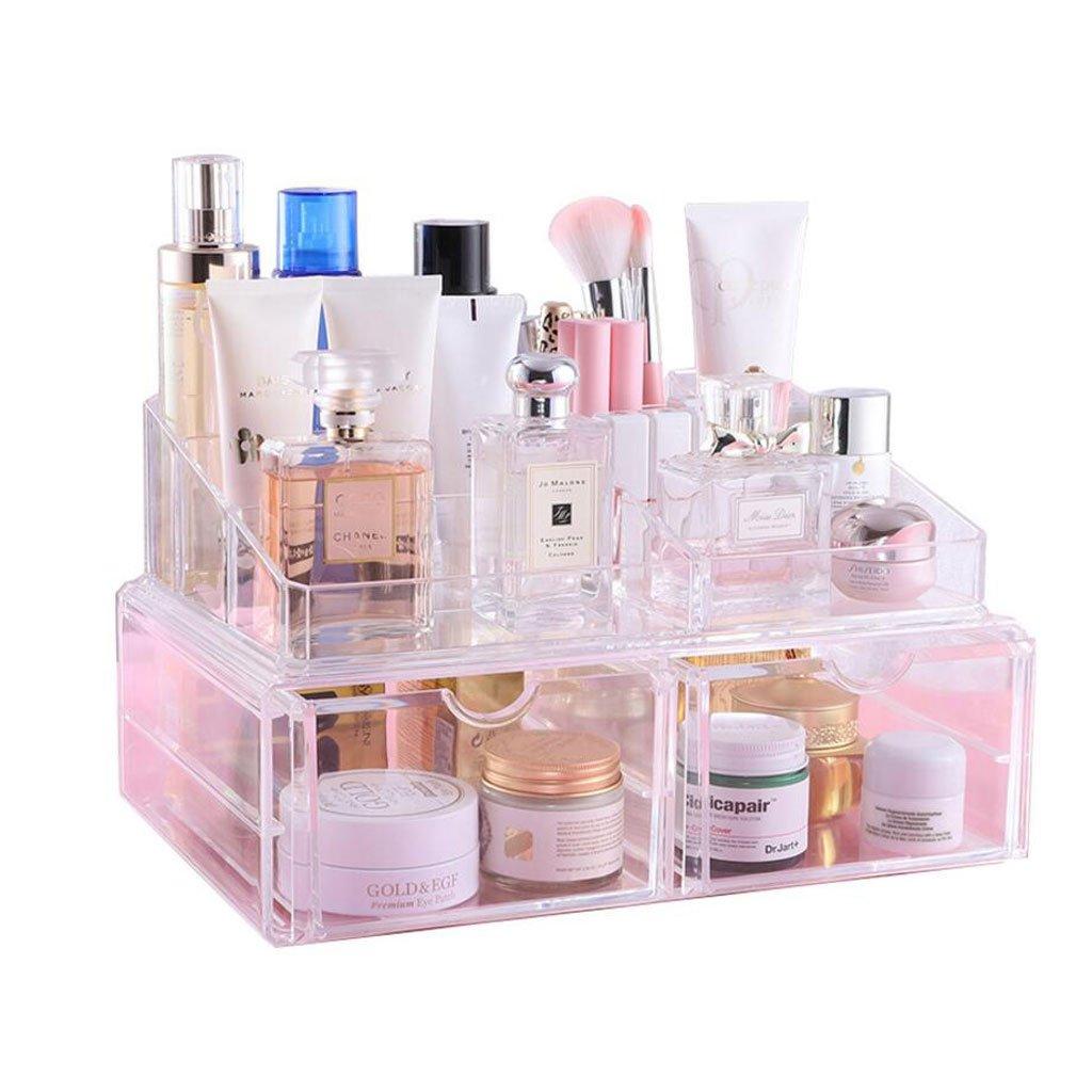 Tipo de gaveta Caja de Almacenamiento de cosméticos Caja de Herramientas de Maquillaje Caja de Acabado de Estante: Amazon.es: Hogar