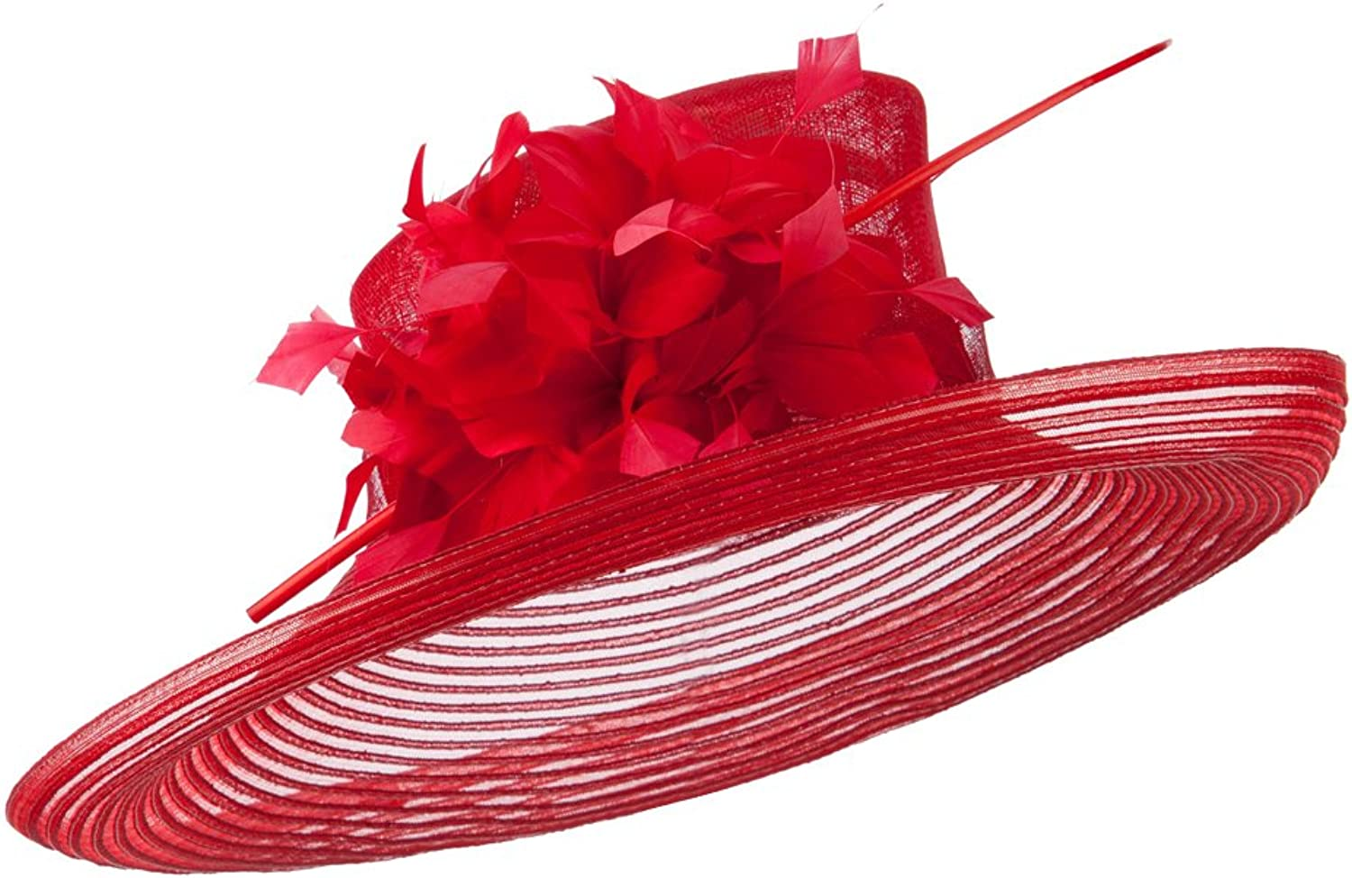 Fashion Sinamay Hat with Crin  Red