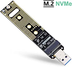 ZEXMTE M.2 NVME USB 3.1 Adapter M-Key M.2 NGFF NVME to USB Card High Performance 10 Gbps USB 3.1 Gen 2 Bridge Chip Support 2230 2242 2260 2280 Size SSD