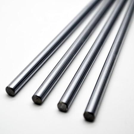 Dia 8mm Chromed Carbon Steel Rod Linear Rail Shaft 100-400mm For 3D Printer UK