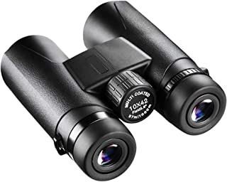 Afloia Compact Binoculars 10 x 42 with Low Light Night Vision, Large Eyepiece Waterproof Binocular for Adults & Kids, Dura...