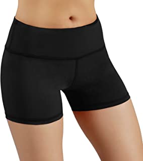 Beauty Yoga Shorts Bike Running Yoga with Hidden Pockets for Women 4-Way Stretch Soft Lightweight