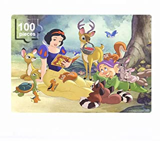 NEILDEN Disney Princess Puzzles in a Metal Box 100 Pieces Jigsaw Puzzles for Kids Ages 4-8 Mini Puzzles for Girls and Boys for Children Learning Educational Puzzles (Snow White)