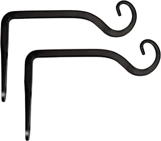 Mkono 6 inch Wall Hook Hanging Plant Bracket, Decorative Straight Plant Hanger for Bird Feeders, Planters, Lanterns, Wind Chimes, Indoor Outdoor, 2 Pack
