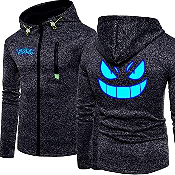 DUAN Pull à Capuche pour Hommes avec Cordon de Serrage Pokémon 3D imprimé Sweat À Capuche Sportswear Veste Sweat-Shirt pour Hommes - Cadeau Ados,Noir,M