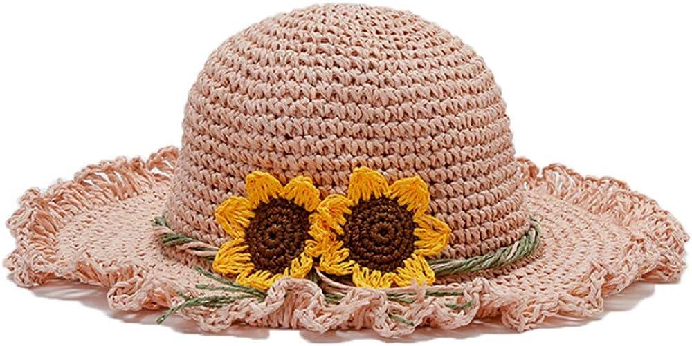 Toddler Girls Handmade Straw Hat Woven Beach Cheap SALE Start Sun Max 69% OFF S Hats with