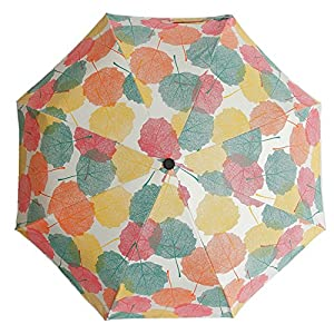 Vindrian 折りたたみ傘 キッズ 梅雨対策 晴雨兼用傘 UV遮光率 撥水加工 紫外線遮蔽率99% 日傘 雨傘 折り畳み傘 晴雨兼用 遮光 遮熱 8本傘骨 手動開閉 超軽量 収納ポーチ付 UVカット (紅葉)